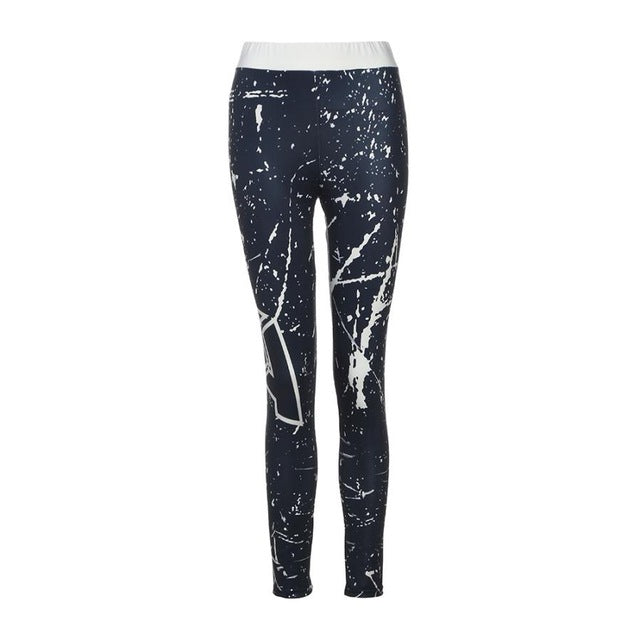 Summer Womens Galaxy Sky Printed Skinny Workout Leggings Fitness high waist Pants leggings