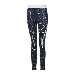 Summer Galaxy Sky Printed Skinny Workout Leggings Fitness High Waist Pants