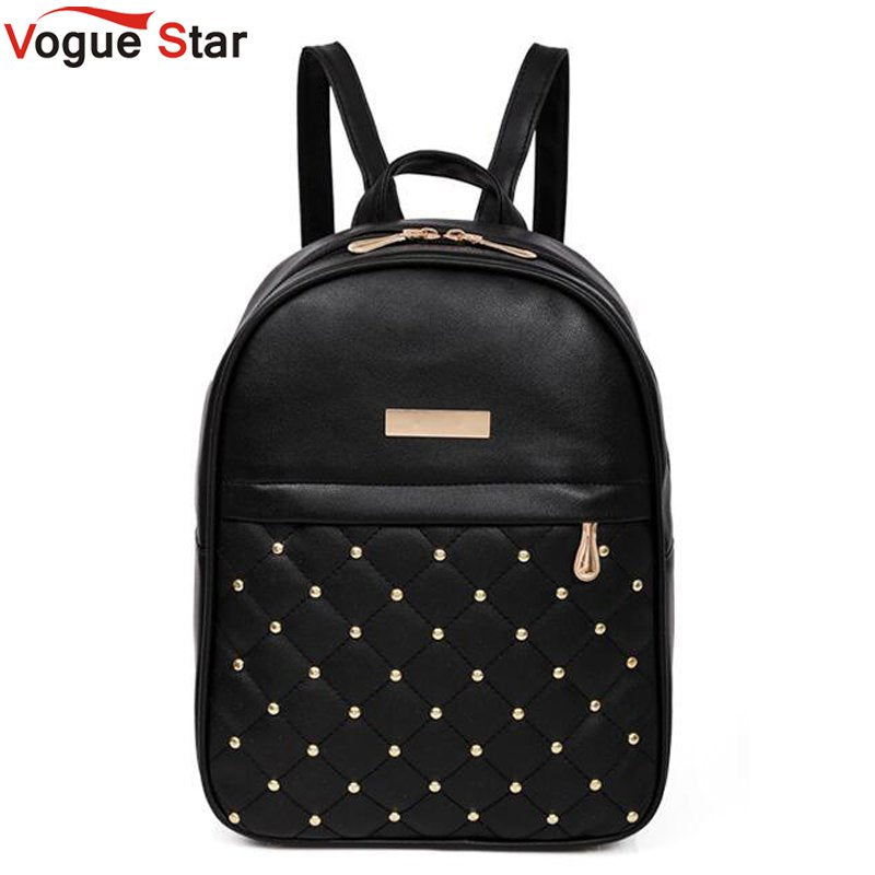 Casual Travel Bead Backpack for Teenage Girls PU Leather SchoolBag Backpack Mochila feminina Backpacks Shoulder Bags LB567