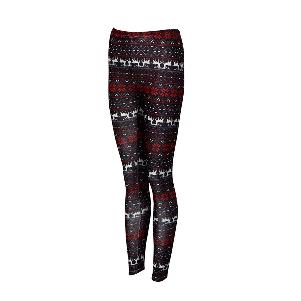 Casual Women Lady Skinny Print Stretchy Jegging Pants Slim Leggings
