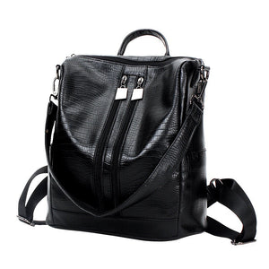 Ladies Shoulder Bag Crocodile Zip Shoulder Bag