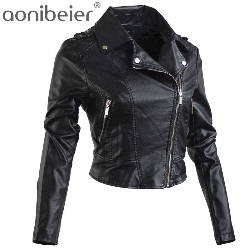 Motorcycle Jacket Women's Spring Autumn Fashion