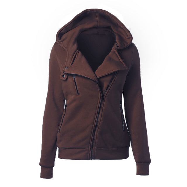 Women Autumn Winter  Warm Zipper Casual Basic Jacket