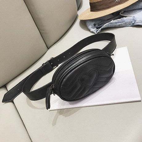 Herald Fashion Women Waist Bag Quality Leather Female Belt Bags Lady's Small Pack Chest handbag Travel Money Bags Cashier Pouch