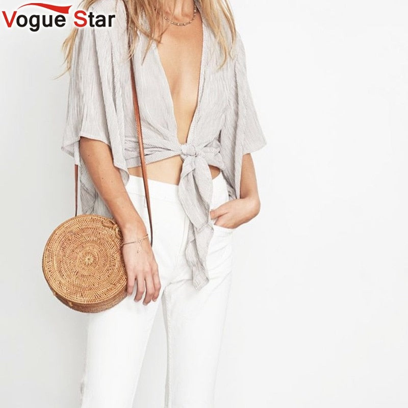 Bali bag Women Hand Woven Round Rattan Straw Bag Bohemian Beach Circle Bag Circular Handbag Crossbody Shoulder Bags  LB968