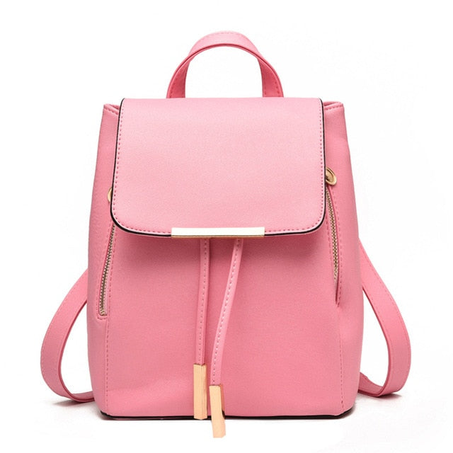 Herald Fashion Preppy Style School Backpack Artificial Leather Women Shoulder Bag Floral School Bag for Teens Girls