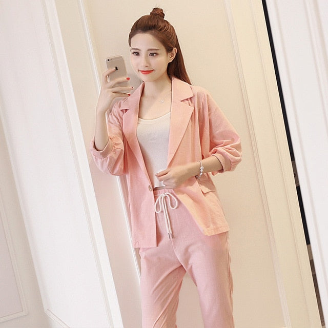 Professional female long-sleeve suit pants (S-XL)
