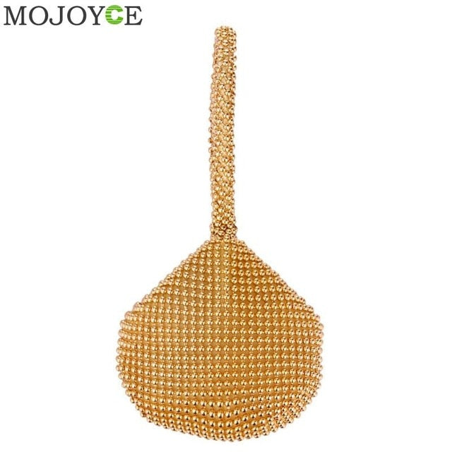 Golden Metal Clutch Bags for Women Ladies Small Fashion Day Clutches Pearl  Beaded Purse for Dinner 2eaacefc322e