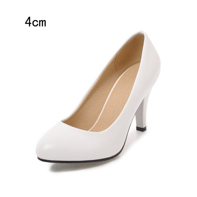BONJOMARISA [Big Size] Pointed Toe Spiked High Heels Party Wedding Office Shoes