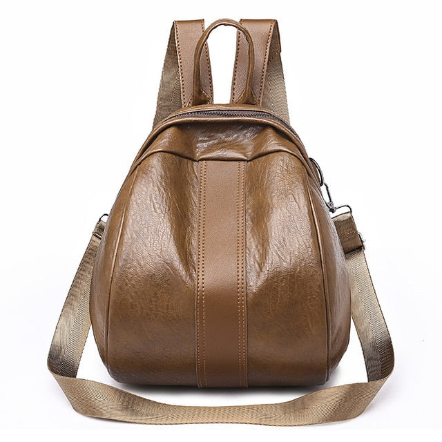 Herald Fashion Women Backpacks Quality Leather Backpacks Large Female School Shoulder bags for Teenage Girls Travel Back pack