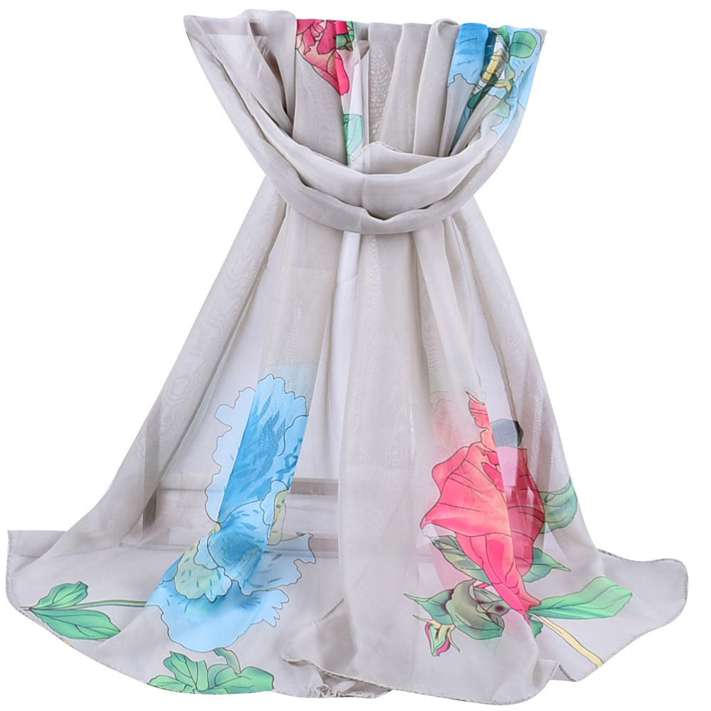Women Printed Soft Chiffon Shawl Wrap Wraps Scarf Scarves