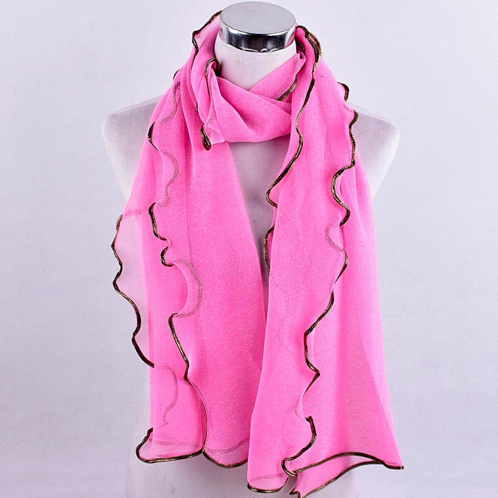 Women Fashion Long Solid Mesh Soft Wrap Scarf Ladies Shawl Scarves