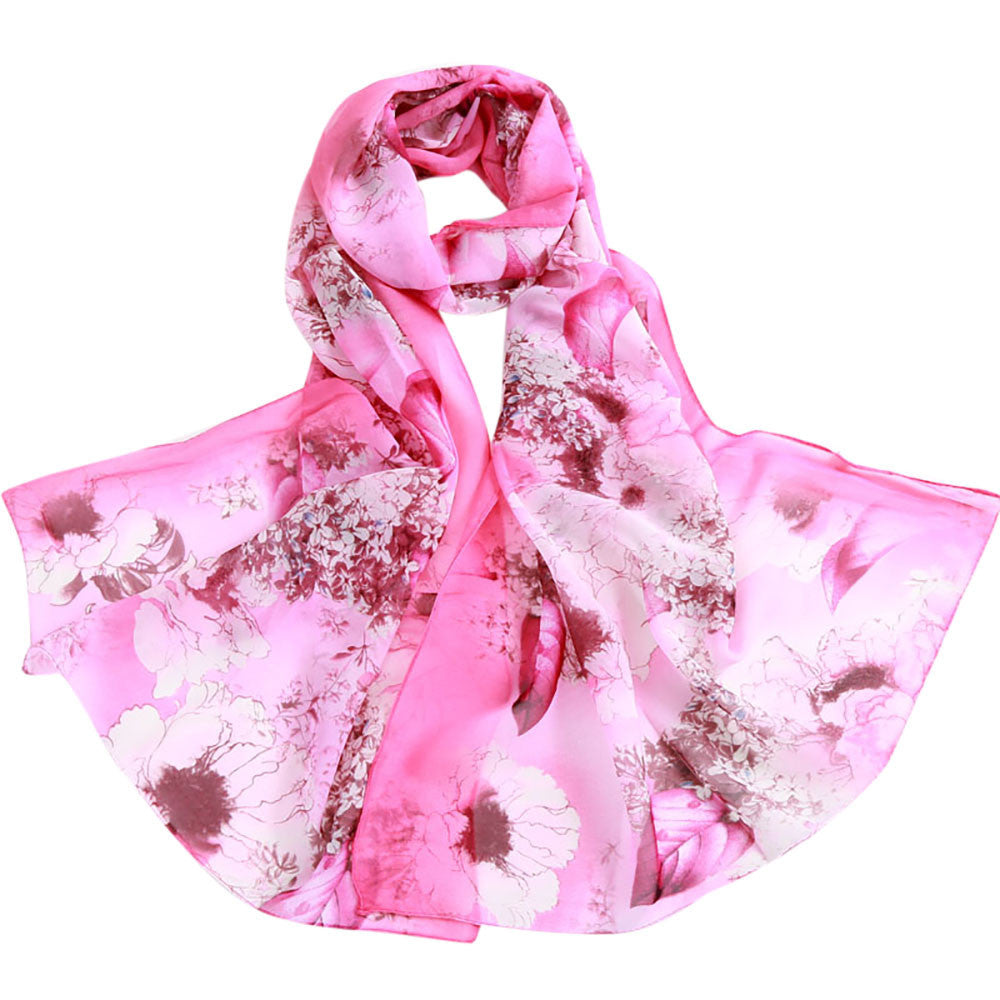 Fashion Women Soild Dot Printing Long Soft Wrap Scarf Ladies Shawl Scarves
