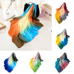 Fashion Women Gradient Color Square Soft Wrap Scarf Ladies Shawl Scarves
