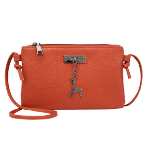 Womens Leather Crossbody Bag Small Deer Shoulder Bags Messenger Bag Coin bag