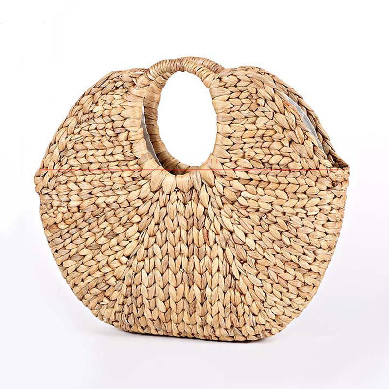 Handmade straw handbags Home decor woven bags Vintage hand bags portable storage bag Sen vacation bag