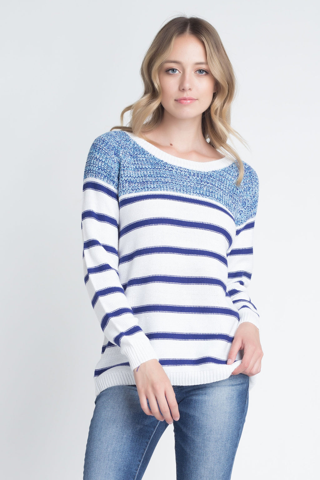 Women's Stripe Knit Sweater