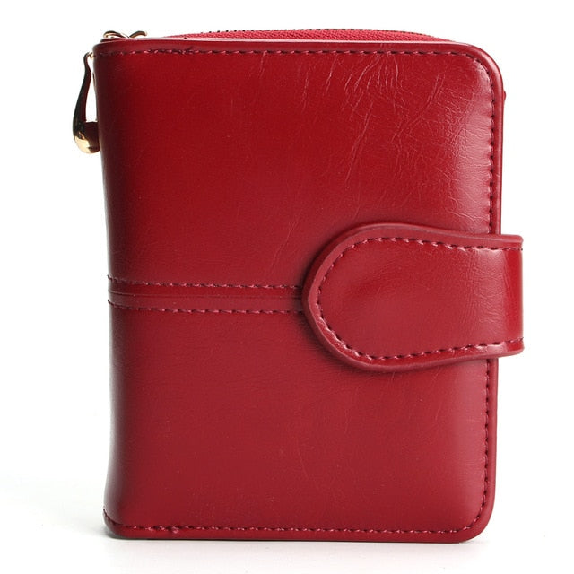 Tauren Women Fashion Red Purse Female Wallet Leather Pu Multifunction Purse Small Money Bag Coin Pocket Wallet Top Quality !