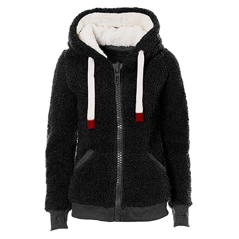 Soft Teddy Hooded Jacket