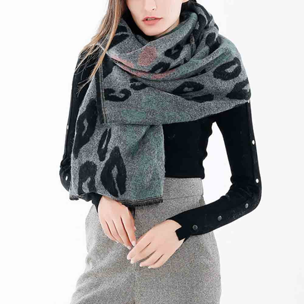 JAYCOSIN Fashion Women Winter Warm Scarf Collar Ladies Long Printing Shawl Wraps  Oct.4