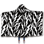 Scarves & Wraps Hooded Blanket 3D Print Harajuku Lightning zebra black and white hooded poncho scarf shawl manteau femme hiver