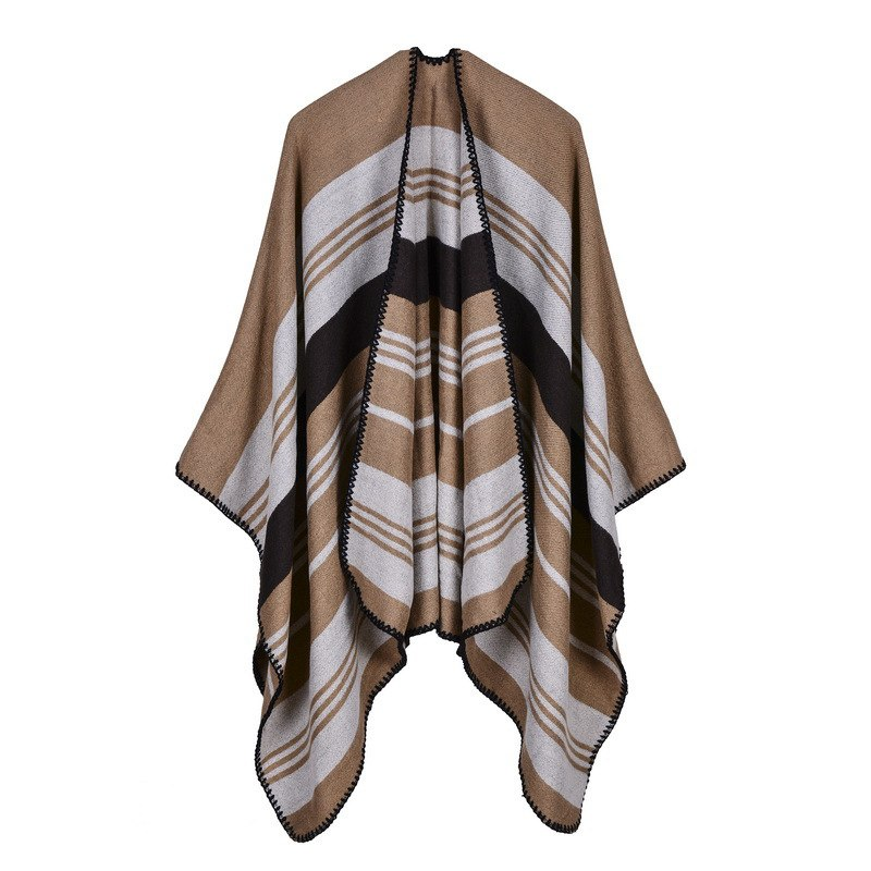 New fashion women outdoor warm scarf oversized shawl and wrap top quality knitted Cashmere Capes and Ponchos for lady SC-68