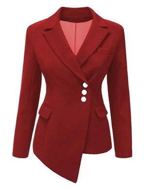 Professional  Women's New Fashion Solid Blazers (S-3XL)