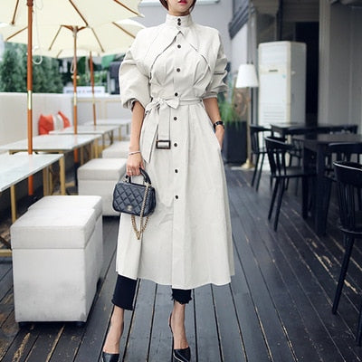 New Arrival High Quality Women's A-Line Trench Coat