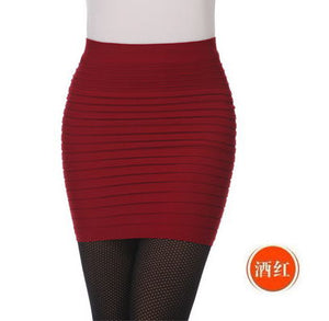 Professional Women's Short Pleated Slim Hip Skirts (S-L)