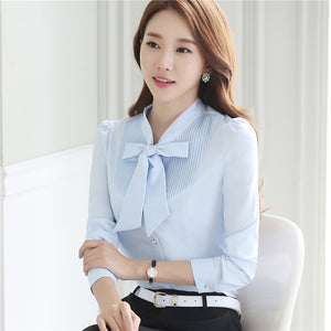 'Dushicolorful' Professional Women Work Wear Blouses (S-4XL)