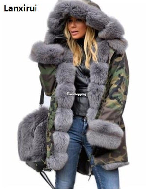 Jacket Coat 2018 New Fashion Winter Women Hooded Overcoat (S-5XL)