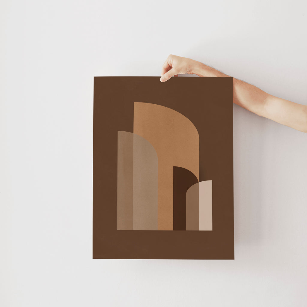 Retro Geometric Brown