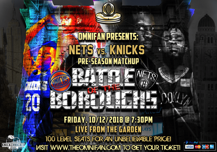 Nets Vs. Knicks Battle of the Boroughs Pre-Season Matchup - OmniFan