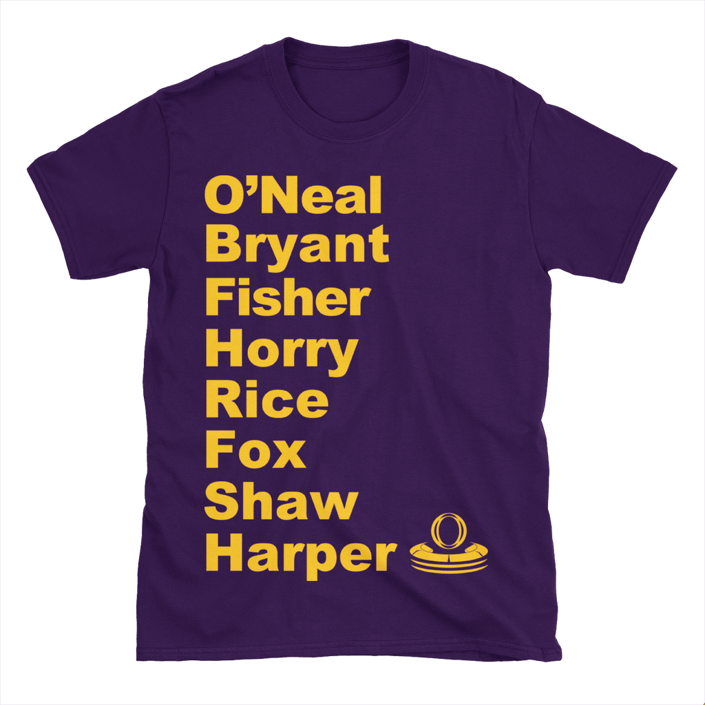 New Dynasty ('99-'00) Lakers Roster T-Shirt - OmniFan