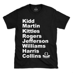 OG'S Brooklyn/NJ Nets 2002-2003 Roster T-shirt featuring Jason Kidd, Kenyon Martin, Kerry Kittles, Rodney Rogers, Richard Jefferson, Aaron Williams, Lucious Harris and Jason Collins