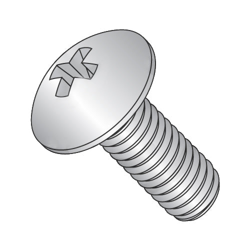 8-32 x 1 1/8 Phillips Truss Machine Screw Fully Threaded Full Contour 18-8 Stainless Steel-Bolt Demon