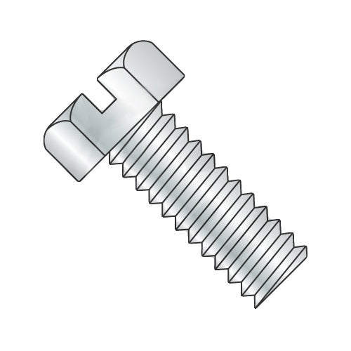 6-32 x 3 Slotted Indented Hex Head Machine Screw Fully Threaded Zinc-Bolt Demon