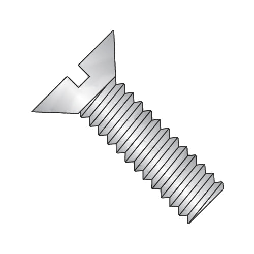 12-24 x 3/4 Slotted Flat Machine Screw Fully Threaded 18-8 Stainless Steel-Bolt Demon