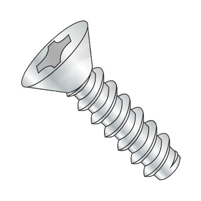 8-18 x 7/8 Phillips Flat Self Tapping Screw Type B Fully Threaded Zinc-Bolt Demon
