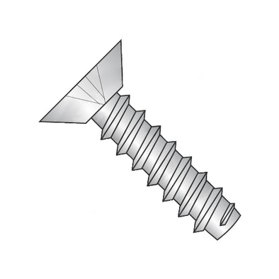 4-24 x 3/8 Phillips Flat Undercut Self Tapping Screw Type B Fully Threaded 18-8 Stainless-Bolt Demon