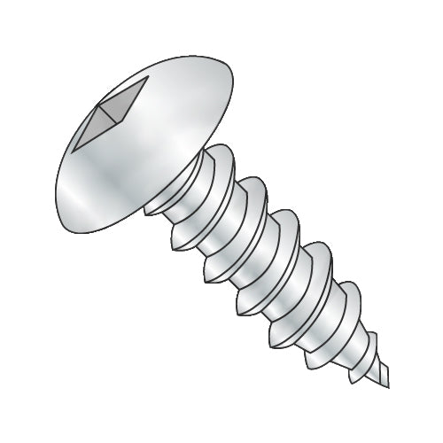14-10 x 3/4 Square Truss Self Tapping Screw Type A Fully Threaded Zinc-Bolt Demon