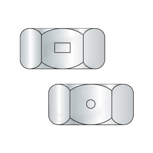 10-24 Two Way Reversible Hex Lock Nut Zinc And Wax-Bolt Demon