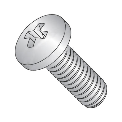 6-32 x 1/2 Phillips Pan Machine Screw Fully Threaded 18-8 Stainless Steel-Bolt Demon