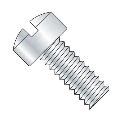 12-24 x 7/8 Slotted Fillister Head Machine Screw Fully Threaded Zinc-Bolt Demon
