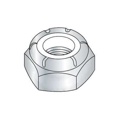 1/4-20 NTE Thin Pattern Nylon Insert Hex Lock Nut Zinc-Bolt Demon