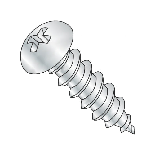 12-11 x 1 Phillips Round Self Tapping Screw Type A Fully Threaded Zinc-Bolt Demon