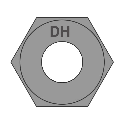 7/8-9 Heavy Hex Structural Nuts A563 DH Plain USA-Bolt Demon