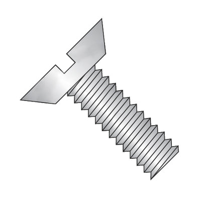 8-32 x 1/4 Slotted Flat Undercut Machine Screw Fully Threaded 18-8 Stainless Steel-Bolt Demon