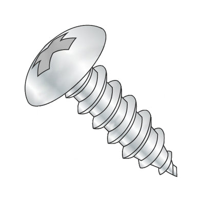 10-16 x 1 1/2 Phill Full Contour Truss Self Tapping Screw Type AB Fully Thread Zinc-Bolt Demon
