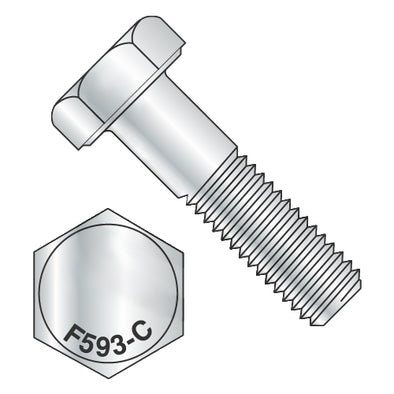 1/2-13 x 3/4 Hex Cap Screw 18-8 Stainless Steel-Bolt Demon